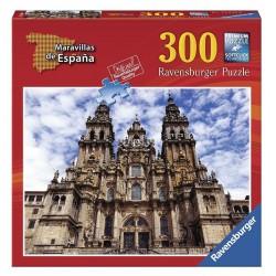 RAVENSBURGER MARAVILLAS DE ESPAÑA_ LA CATEDRAL DE SANTIAGO DE COMPOSTELA_ PUZZLE 300 piezas.