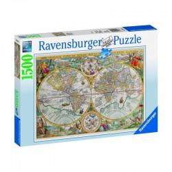 RAVENSBURGER_ MAPA DEL MUNDO 1594. PUZZLE 1500 piezas.