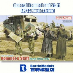 DRAGON_ ROMMEL & STAFF NORTH AFRICA 1942_ 1/35