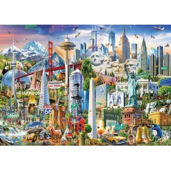 Educa 17670_ Simbolos de Norteamérica. Puzzle 1500 piezas