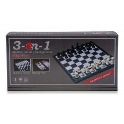 Aquamarine Games_ Ajedrez, Damas Y Backgammon, 3 En 1