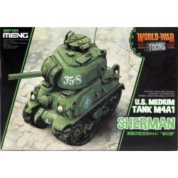 MENG_ WORLD WAR TOONS_ SHERMAN US MEDIUM TANK M4A1