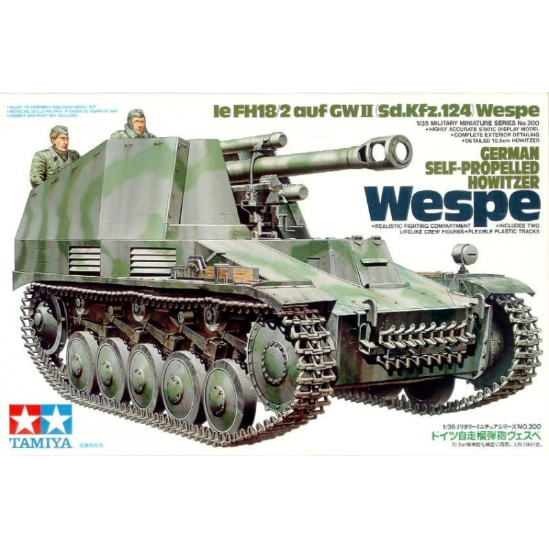 TAMIYA_ WESPE. GERMAN SELF-PROPELLED HOWITZER. Ie FH18/2 auf GWII (Sd.Kfz.124)