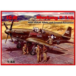 ICM_ MUSTANG P-51B WITH USAAF PILOTS AND GROUND PERSONNEL_ 1/48