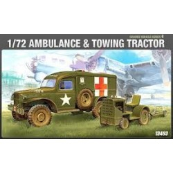 ACADEMY_US AMBULANCE & TOWING TRACTOR_1/72