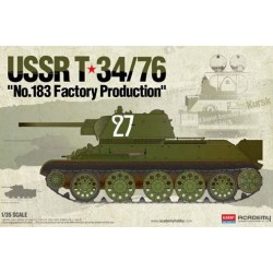 """ACADEMY_ USSR T34/76 """"Nº183 FACTORY PRODUCTION""""_ 1/35"""