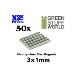 IMAN DE NEODIMIO 5 x 2 mm. N35 (50 Uds.)