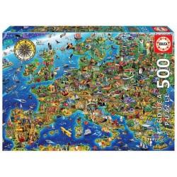 Educa 17962_ Mapa de Europa_ Puzzle 500 piezas.