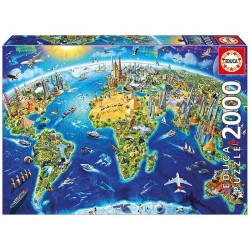 Educa 17129_  Símbolos del mundo. Puzzle 2000 piezas