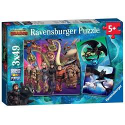 RAVENSBURGER_ SIRENAS ENCANTADORAS. PUZZLE 3 x 49 piezas