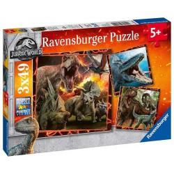 RAVENSBURGER_ AMA TU TRIBU. PUZZLE 3 x 49 piezas