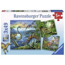 RAVENSBURGER_ INSTINTO CAZADOR. PUZZLE 3 x 49 piezas