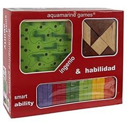 AQUAMARINE GAMES_ TABLERO DE PARCHIS 4 Y 6 JUGADORES