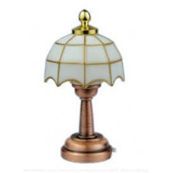 DOLLHOUSE_ LAMPARA MESILLA BLANCA LED 1/12