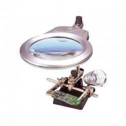 CHAVES_ ROBOT ELECTRONICA. PINZAS DE SUJECIÓN CON LUPA Y LUZ LED