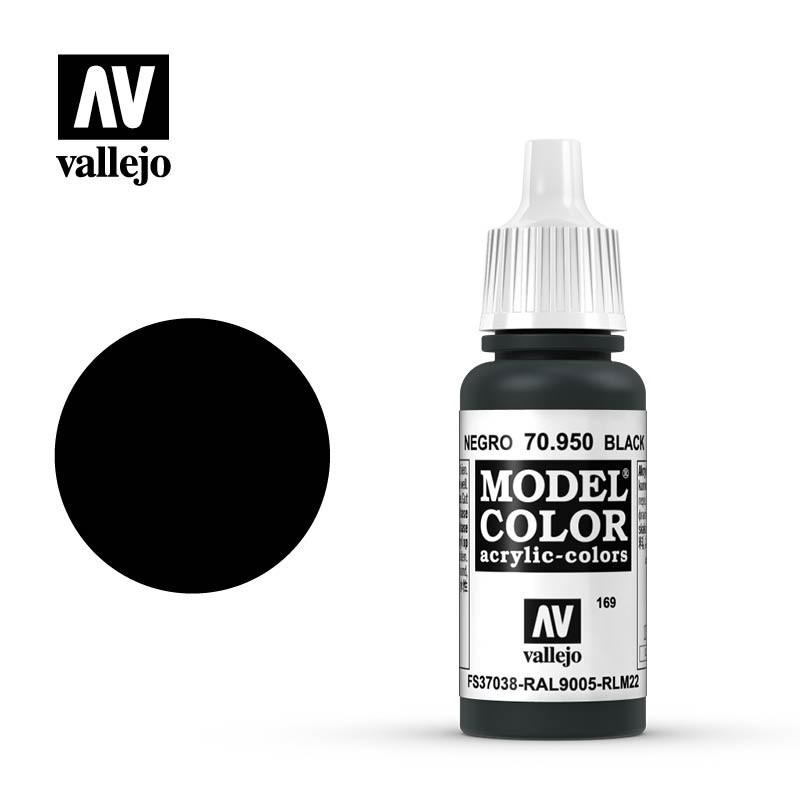 Vallejo Model Color_ Negro (169) FS37038 RAL9005 RLM22