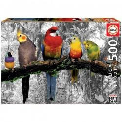 Educa 17984_ Pájaros de la jungla. Puzzle 500 piezas