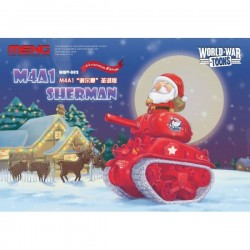 MENG_ WORLD WAR TOONS_ M4A1 SHERMAN CHRISTMAS EDITION