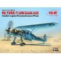 ICM_ HEINKEL HE 51B-1. SPANISH AIR FORCE BIPLANE FIGHTER_ 1/72