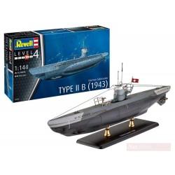REVELL_ SUBMARINO TYPE II B (1943) german submarine_ 1/144