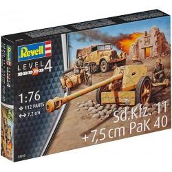 REVELL_ Sd.Kfz.11 + 7,5 cm PAK40_ 1/76