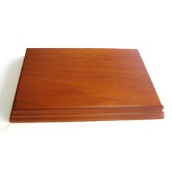 PEANA RECTANGULAR 22x15x2.2cm COLOR CAOBA