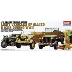 ACADEMY_ LIGHT VEHICLES OF ALLIED & AXIS DURING WWII_ 1/72