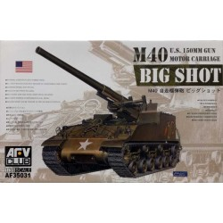 AFV CLUB_ M40 BOG SHOT US 150mm GUN MOTOR CARRIAGE_ 1/35