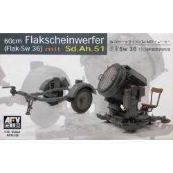 AFV CLUB_ 60cm FLAKSCHEINWERFER (FLAK-SW 36 MIT Sd.Ah51_ 1/35