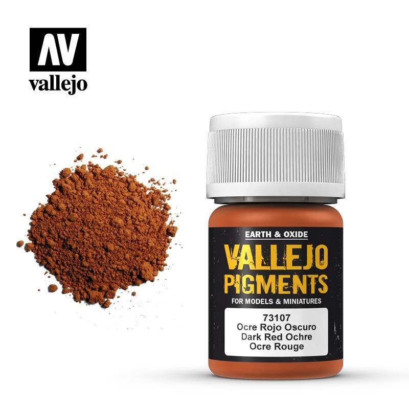 Vallejo_ Pigmento Ocre Rojo Oscuro 30 ml.