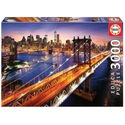 Educa Puzzle_  Manhattan al atardecer. 3000 piezas
