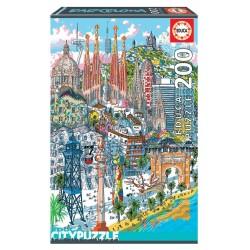 EDUCA_  BARCELONA CITY PUZZLE 200 Pzas