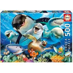 Educa 17647_ Selfie bajo el agua. Puzzle 500 pcs.