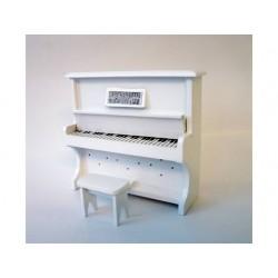 VEGA MINI_ PIANO DE PAREDE BRANCA COM ASSENTO_ 1/12