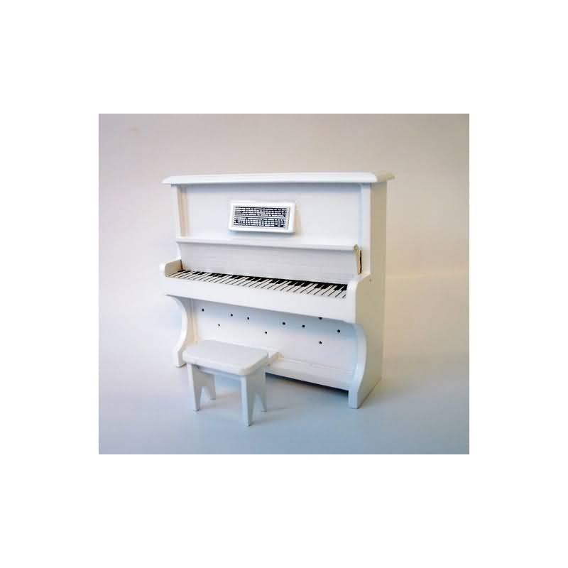 VEGA MINI_ PIANO DE PARED BLANCO CON ASIENTO_ 1/12