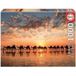 Educa 18492_ Atardecer dorado en Cable Beach, Australia. Puzzle 1000piezas.