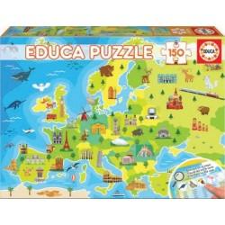 EDUCA_ MAPA DE EUROPA . PUZZLE 150pcs.