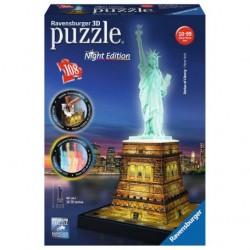 RAVENSBURGER_PUZZLE 3D_ LA ESTATUA DE LA LIBERTAD (NIGHT EDITION )