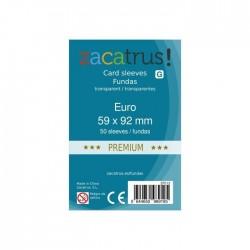 FUNDAS DE CARTAS EURO PREMIUM 59 x 92 mm. - 50 Uds.