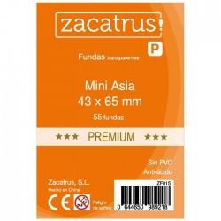 Fundas De Cartas Mini Asia Premium 43 x 65 mm. 55 Uds.