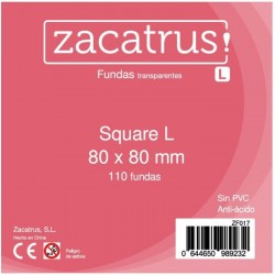 Fundas De Cartas Square L 80 x 80 mm. 110 Uds.