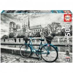 Educa 18482_ Bicicleta cerca de Notre Damme_Puzzle 500pcs.