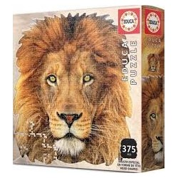 Educa 18653_ Puzzle silueta de león. 367 pcs