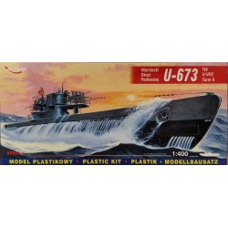MIRAGE HOBBY_ U-673 VII C GERMAN SUBMARINE_ 1/400