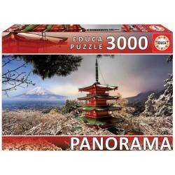 Educa_ Monte Fuji y Pagoda Churreito,  Japón. Puzzle 3000 piezas