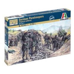 ITALERI_ GERMAN PARATROOPERS (TROPICAL UNIFORM) WWII_ 1/72