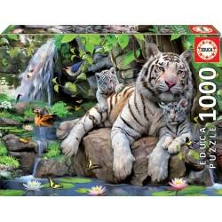 Educa 14808_ Tigres blancos de Bengala. Puzzle 1000 piezas