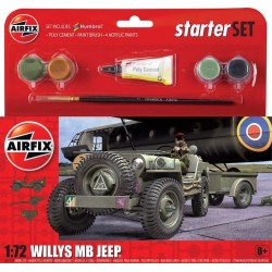 AIRFIX_ WILLYS MB JEEP (STARTER SET)_ 1/72