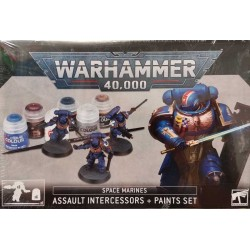 GW_ WARHAMMER 40.000 ASSAULT INTERCESSORS + PAINTS SET