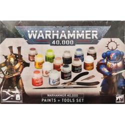 GW_ WARHAMMER 40.000 PAINTS + TOOLS SET